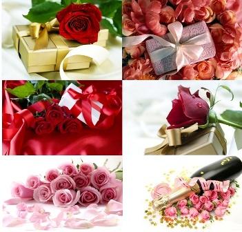Рози з подарунком