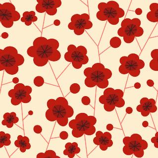 Фрагменти фонів червоні квіти