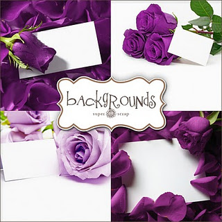Карточки з фіолетовими розами
