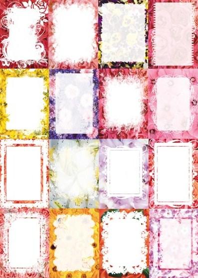 Карточки для тексту квіткові