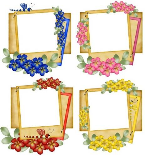 Карточки-рамочки з квітами