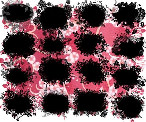 Маски з квітами для оформлення робіт png